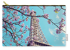 Springtime In Paris - Eiffel Tower Photograph Carry-all Pouch by Melanie Alexandra Price