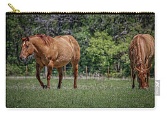 Carry-all Pouch featuring the photograph Springtime In Texas Fields by Elaine Malott
