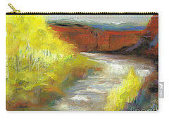 Carry-all Pouch featuring the painting Springtime In The Rockies by Frances Marino