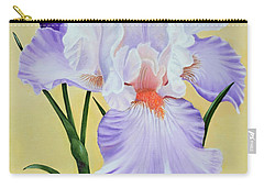 Carry-all Pouch featuring the painting Springtime Iris by Jimmie Bartlett