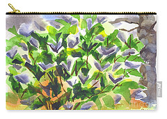 Carry-all Pouch featuring the painting Springtime Lilac Abstraction by Kip DeVore