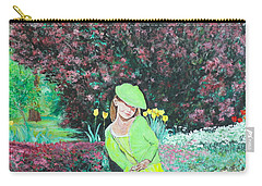 Springtime On Iris Carry-all Pouch