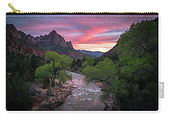Springtime Sunset At Zion National Park Carry-all Pouch