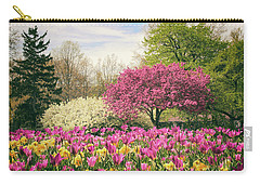 Springtime Tulips Carry-all Pouch by Jessica Jenney