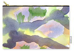 Carry-all Pouch featuring the painting Springtime Wildflower Camouflage  by Kip DeVore