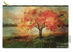 Carry-all Pouch featuring the digital art Sprinkled With Spring by Lois Bryan