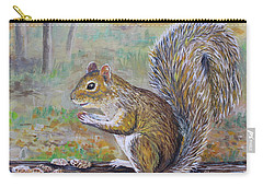 Spunky Squirrel Carry-all Pouch by Lou Ann Bagnall