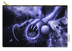 Carry-all Pouch featuring the digital art Squamafly Blue by Russell Kightley