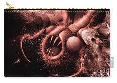 Carry-all Pouch featuring the digital art Squamafly Red by Russell Kightley