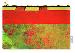 Carry-all Pouch featuring the mixed media Square Collage No. 11 by Nancy Merkle