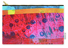 Carry-all Pouch featuring the painting Square Collage No. 12 by Nancy Merkle