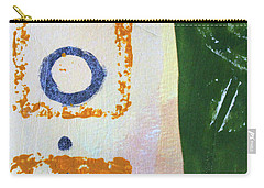 Carry-all Pouch featuring the mixed media Square Collage No 2 by Nancy Merkle