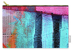Carry-all Pouch featuring the painting Square Collage No 4 by Nancy Merkle
