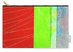 Carry-all Pouch featuring the painting Square Collage No. 5 by Nancy Merkle