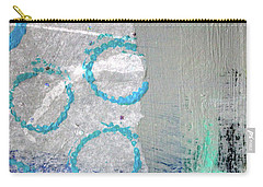 Carry-all Pouch featuring the painting Square Collage No. 6 by Nancy Merkle