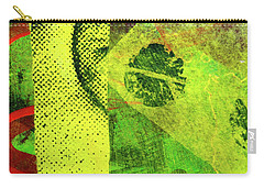 Carry-all Pouch featuring the mixed media Square Collage No. 8 by Nancy Merkle