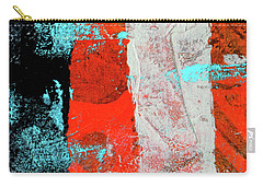 Carry-all Pouch featuring the mixed media Square Collage No. 9 by Nancy Merkle