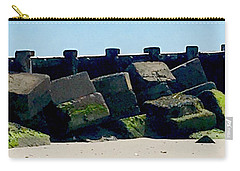 Square Mossy Blocks At Jetty  Carry-all Pouch