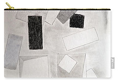 Squares And Shadows Carry-all Pouch by J R Seymour