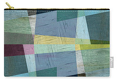 Carry-all Pouch featuring the digital art Squares And Shims by Michelle Calkins
