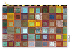 Carry-all Pouch featuring the digital art Squares In Squares Four by Michelle Calkins