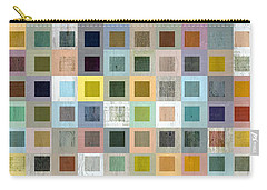 Carry-all Pouch featuring the digital art Squares In Squares Three by Michelle Calkins