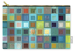 Carry-all Pouch featuring the digital art Squares In Squares Two by Michelle Calkins