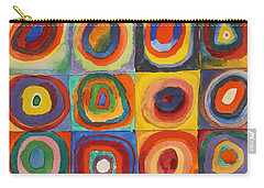 Squares With Concentric Circles Carry-all Pouch