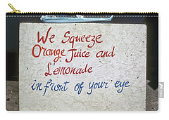 Squeezed Juice Sign Carry-all Pouch