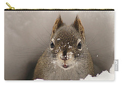 Squirrel In A Snow Tunnel Carry-all Pouch