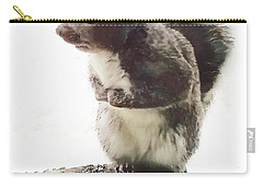 Carry-all Pouch featuring the photograph Squirrel In The Snow by Roger Bester