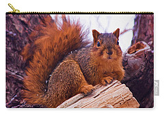 Squirrel In Tree Carry-all Pouch