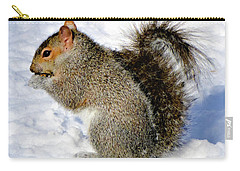Squirrel In Winter Carry-all Pouch