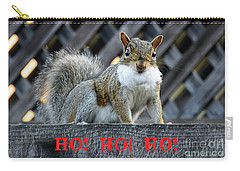 Carry-all Pouch featuring the photograph Squirrel Santa Ho Ho Ho by Susan Wiedmann