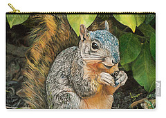 Squirrel Under Bush Carry-all Pouch