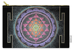 Carry-all Pouch featuring the painting Sri Yantra by Keiko Katsuta
