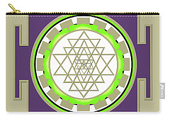 Sri Yantra Of Prosperity Carry-all Pouch