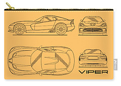 Srt Viper Blueprint Carry-all Pouch
