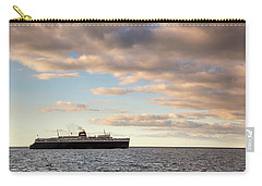 Carry-all Pouch featuring the photograph Ss Badger Leaving Port by Adam Romanowicz