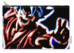 Carry-all Pouch featuring the digital art Ssjg Goku by Ray Shiu
