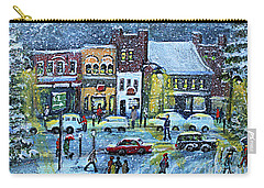 Snowing In Concord Center Carry-all Pouch by Rita Brown