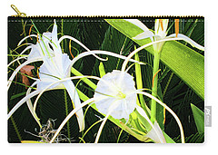 Carry-all Pouch featuring the photograph St. Aandrews Spider Flower Family by Daniel Hebard