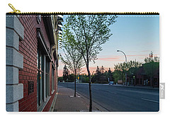 Carry-all Pouch featuring the photograph St. Anne Street At Dusk by Darcy Michaelchuk