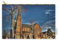 St. Annes Detroit Mi Carry-all Pouch by Nicholas  Grunas