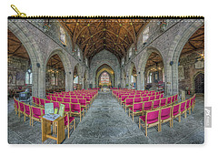Carry-all Pouch featuring the photograph St Asaph Cathedral by Ian Mitchell
