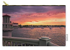 St. Augustine Bridge Of Lions Watercolor Sunset Carry-all Pouch
