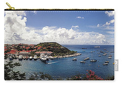 Carry-all Pouch featuring the photograph St. Barths Harbor At Gustavia, St. Barthelemy by Lars Lentz