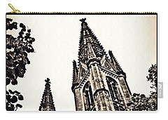 St Boniface Church Towers Sepia Carry-all Pouch by Sarah Loft
