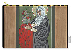 Carry-all Pouch featuring the painting St Catherine Of Siena With Frame by William Hart McNichols