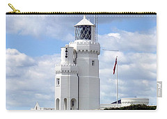 St. Catherine's Lighthouse On The Isle Of Wight Carry-all Pouch by Carla Parris